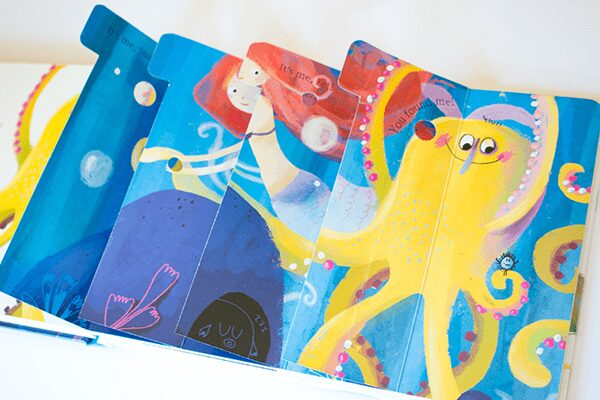 Ocean Animal Canvas art projects for mixed age groups based on the illustrations in Ocean Themed Storybooks