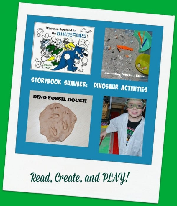 Read Whatever Happened to the Dinosaurs and play along creating your own sensory excavation bin as well as be a Paleontologists as your children investigate making their own fossils.