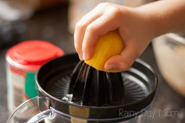 Easy Lemon and Blueberry Muffin Recipe ideal for Summer and great to cook with kids