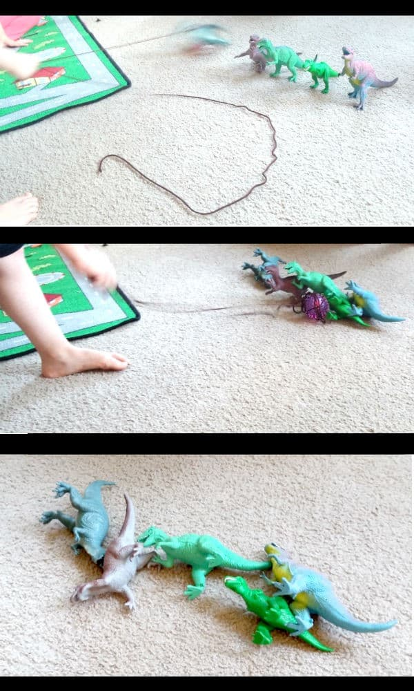 Fun Dinosaur Science for kids this summer, based on the book Dinosaur A to Z bringing alive children's storybooks for kids of all ages