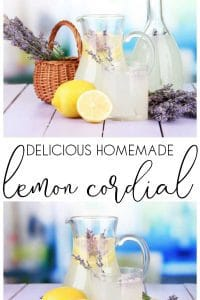 A delicious 1930's traditional Lemon Cordial Recipe perfect for summer drinks and adding to cocktails. Only 3 ingredients and easy to make
