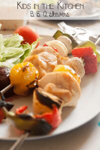 BBQ spice recipe and simple skewers that kids can make as well. Ideal Summer recipe to throw on the grill