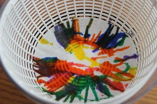 Spin Art Rainbow Fish, art and craft activity for the favourite children's storybook The Rainbow Fish by Marcus Pfister