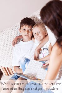 When your child can read independently should you continue to read aloud with them - here are the reasons we do and how it supports there learning well past the learning to read stage