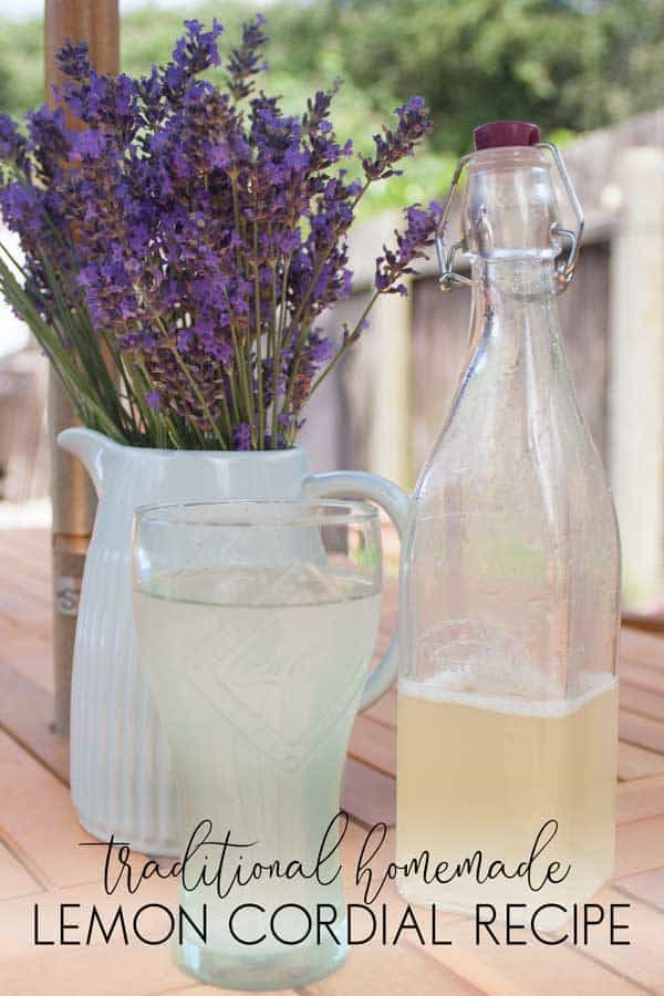 Traditional Lemon Cordial Recipe