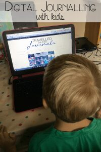 Digital Journalling with kids - ways to incorporate literacy, art and computer science into journalling with kids