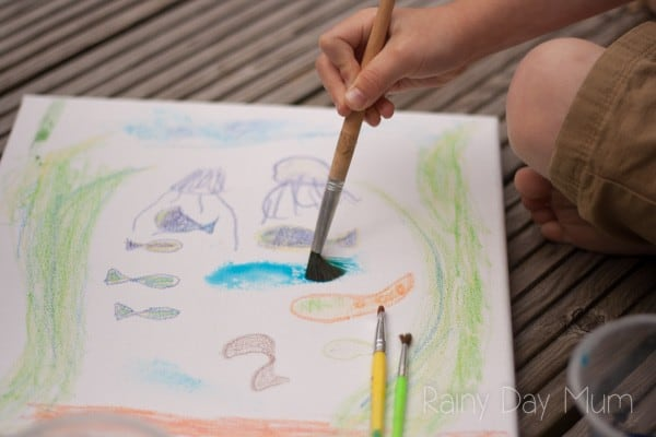 Collaborative Art Project for Mixed Age Kids to do this Summer