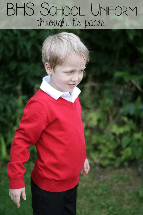 Putting school uniform through it's paces with BHS. A brand that is hard wearing, washes well and adjustable to fit all sizes of kids