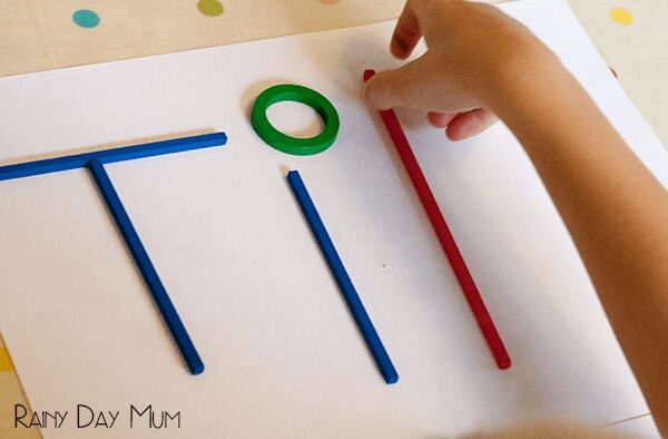 Build my Name STEM activity for prechoolers
