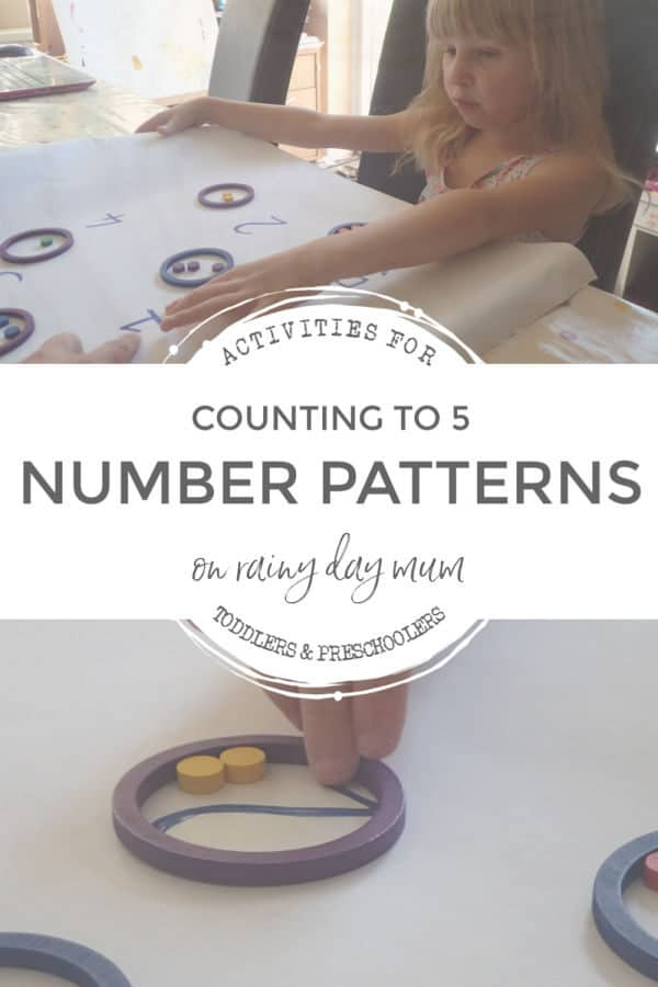 counting to 5 recognising regularly patterns with preschoolers
