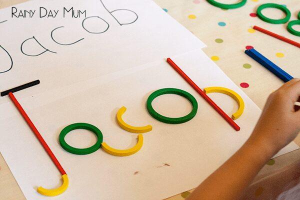 letter making activity for family members