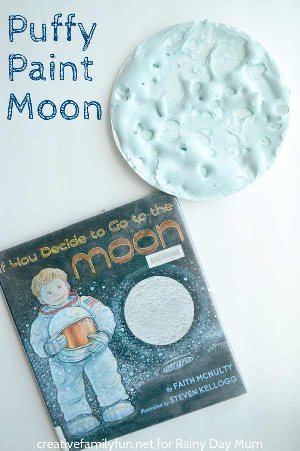 DIY Puffy Paint Recipe and Moon Art