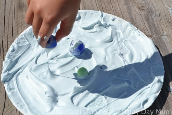 DIY Puffy Paint recipe and fantastic space based art for kids