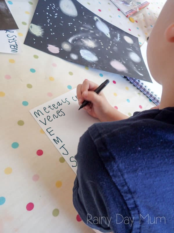 Solar System Poetry, combining art, science and literacy