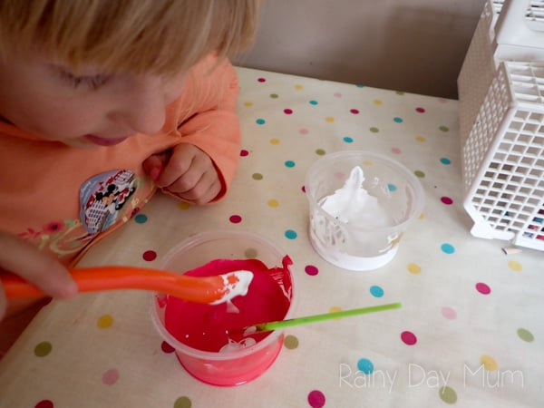 STEM Colour Experiment, a study into how pink is made ideal pre-k, and Kinder aged children