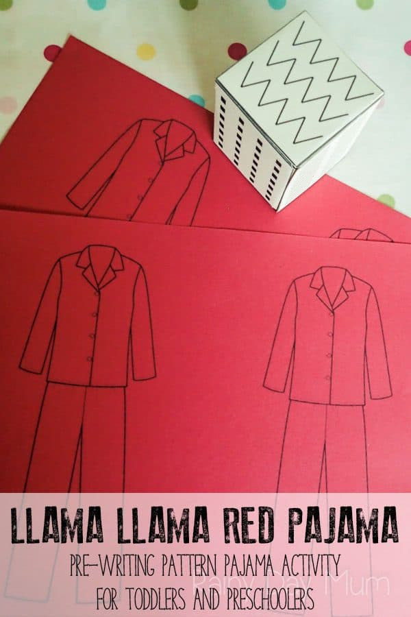 Llama Llama Patterned Pajamas – pre-writing activity