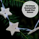 simple salt dough star banner made with Christmas scented salt dough