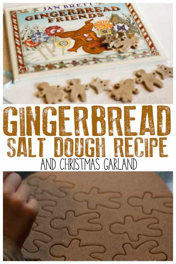 Scented Salt Dough Gingerbread Friends Garland