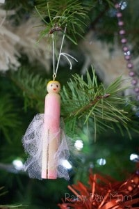 Sugar Plum Fairy Peg Doll Christmas Craft for Kids.