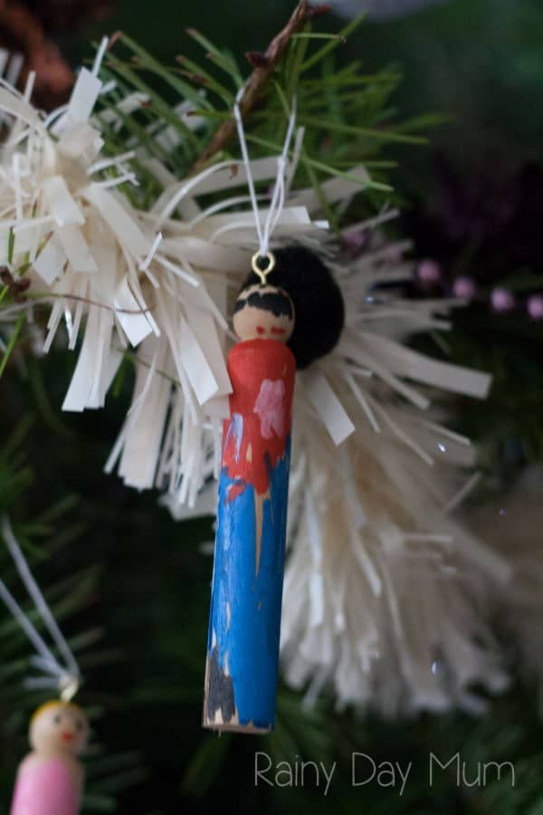 Take the classic Christmas tale of The Nutcracker and create your own tree ornaments in this fun kid friendly Christmas Craft