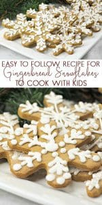 Simple recipe to create some Christmas Gingerbread Snowflake Cookies. So easy that the kids can cook them too. Perfect for treats or edible gifts.