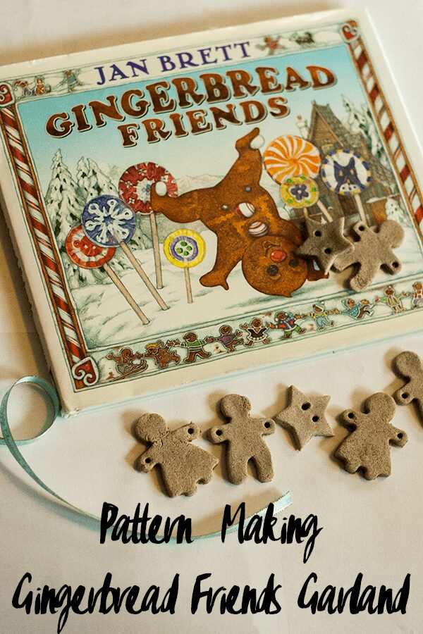 Pattern making based around the book Gingerbread Friends by Jan Brett to create a pretty scented Christmas Decoration