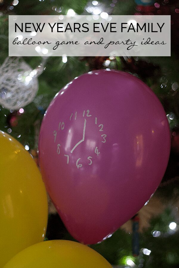 Pinterest image for a New Year's Eve Activity for Kids of all ages