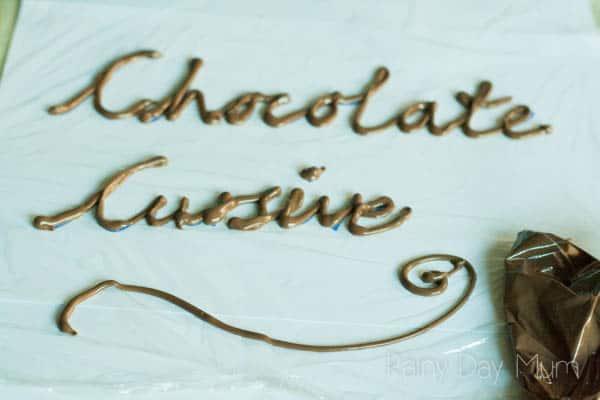 Chocolate Cursive Handwriting Practice