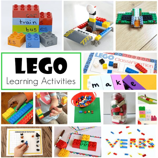 LEGO learning activities for Early Elementary aged students focusing on Literacy, Numeracy and STEM