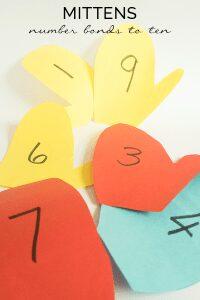 Mitten Number Bonds Math Game