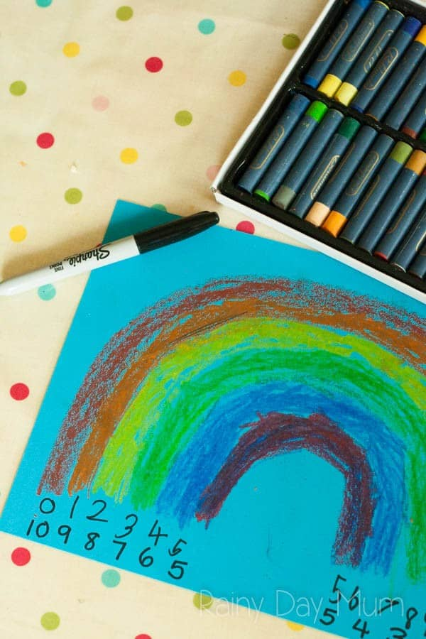 rainbow art and maths activity for kids