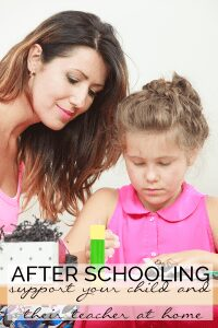 Afterschooling – supporting your child's teachers at home