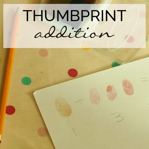 Simple low prep activity to help young children with addition and number sentences