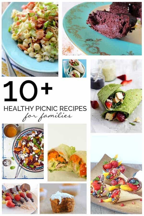 Fabulous healthy picnic recipes for families to take out with them on a day out, getting active and having fun with the kids.