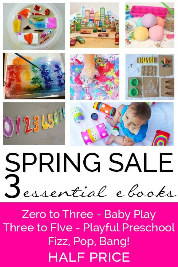 Spring Sale on Essential Ebooks for hands-on activities for learning from birth through to school