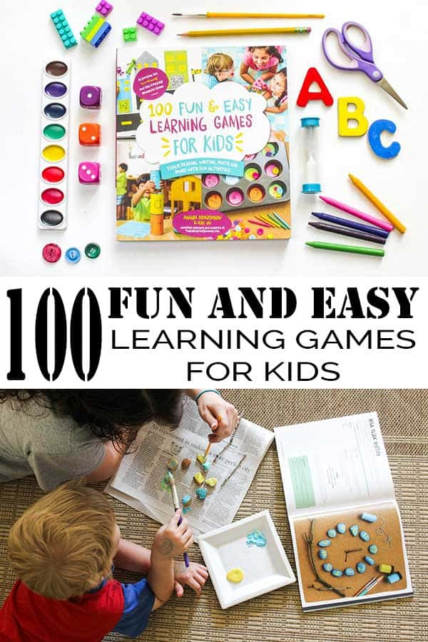 100 Fun and Easy Learning Games for Kids, review of this fantastic book for parents and educators that will provide hands-on learning for young kids.