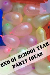 End of School Year Party Ideas with simple DIY decorations and suggestions for fun games and food to serve