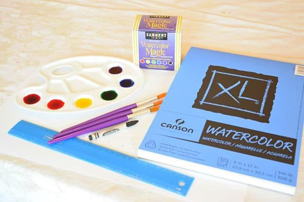 materials needed for doing wax resist art projects with kids