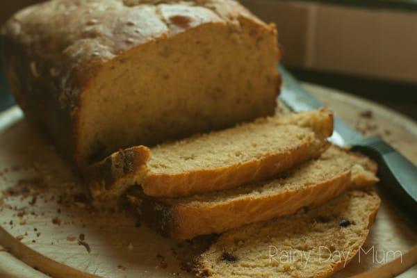 Double chocolate chip brioche loaf recipe