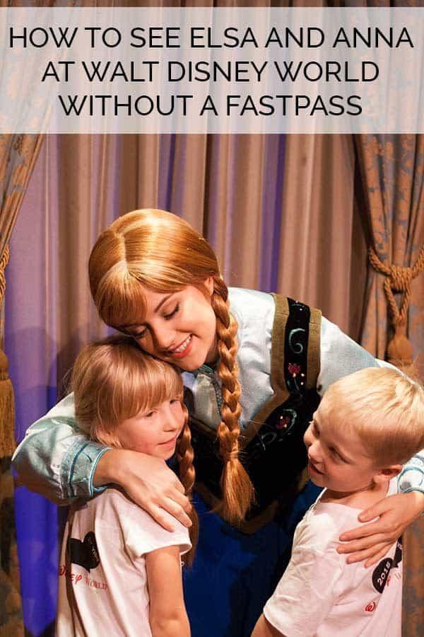 Seeing Elsa and Anna at Walt Disney World