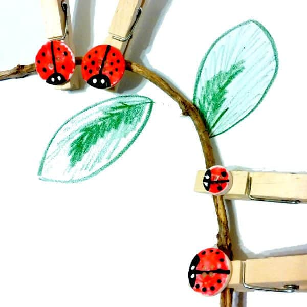 Create your own little button ladybugs - these are perfect for use in maths centres, phonics work and more in the home and the classroom.