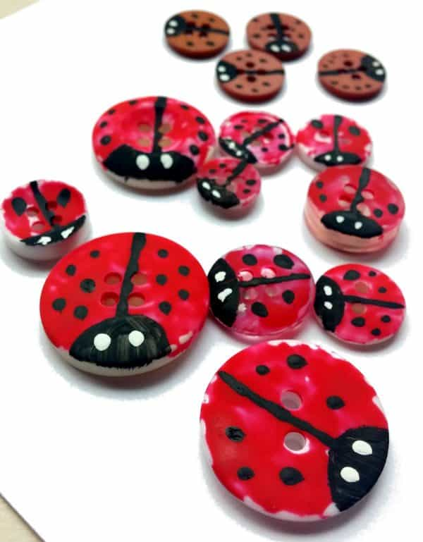 Button Ladybugs Diy Learning Resource