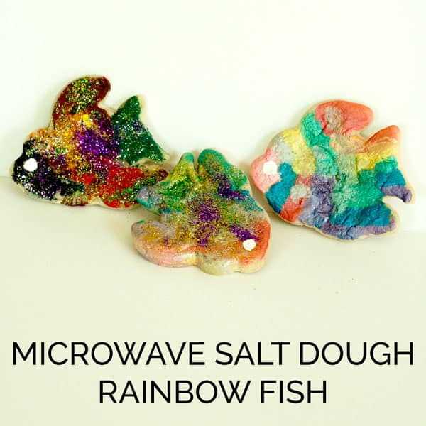 Microwave Salt Dough Recipe and cute rainbow fish craft. Ideal for ...