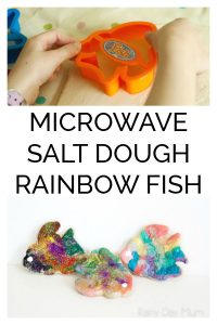 Microwave Salt Dough Rainbow Fish