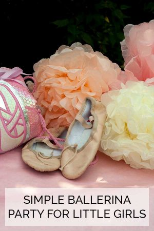 Simple Ballerina Party for little girls that you can throw at home