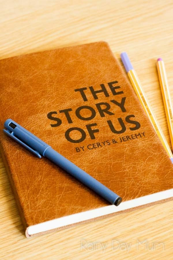 "Journalling ""The Story of Us"" a perfect gift that is unique as you and your partner are and perfect for wedding gifts, anniversary gifts and birthday's for those that have everything"