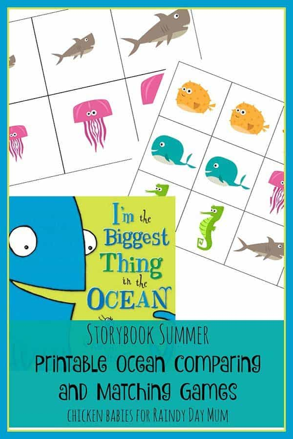 Printable Ocean Comparing and Matching Games