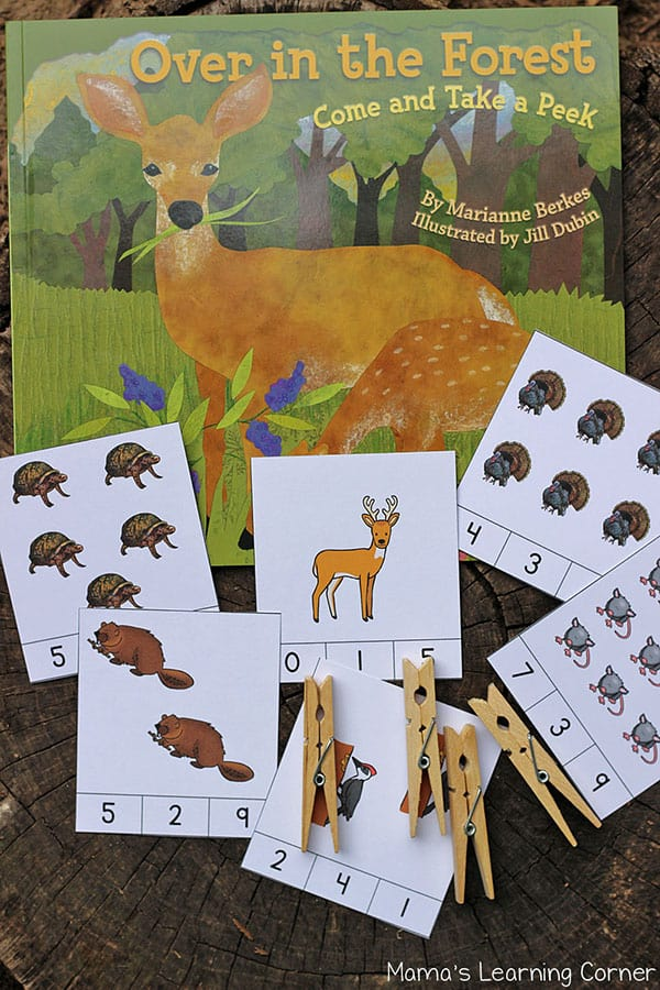 Over in the Forest Themed Clip Cards