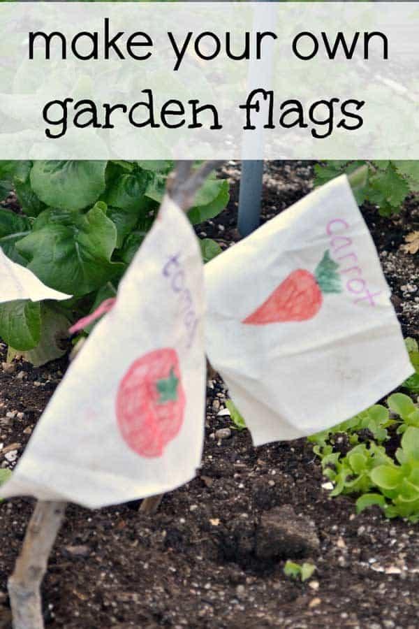 DIY Flag Garden Markers