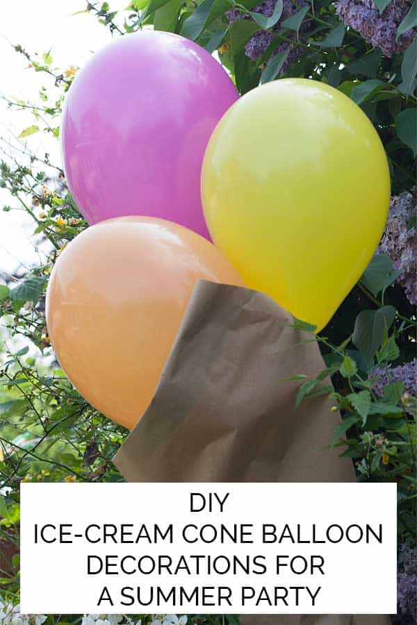 Ice-Cream Balloon Decorations for a Summer Party